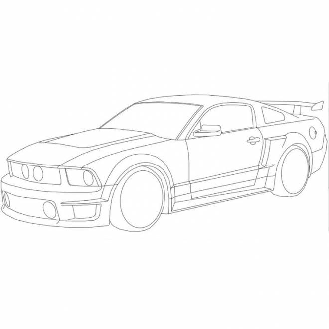 Free coloring and drawings Stylized ford Coloring page