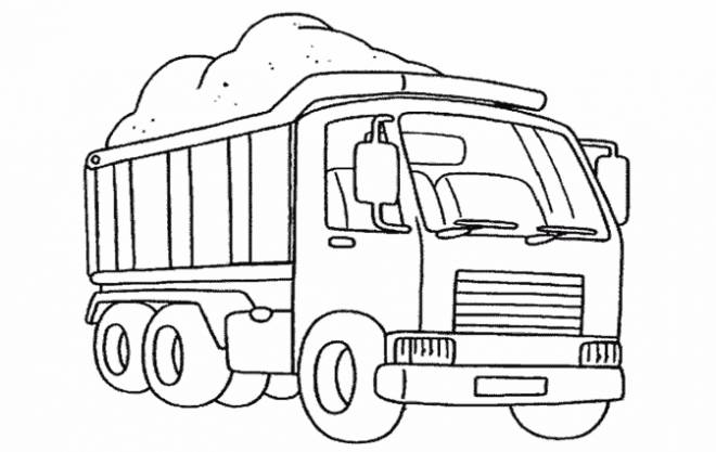 Free coloring and drawings 10 wheel truck Coloring page
