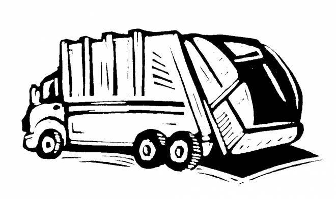 Free coloring and drawings A dumpster Coloring page