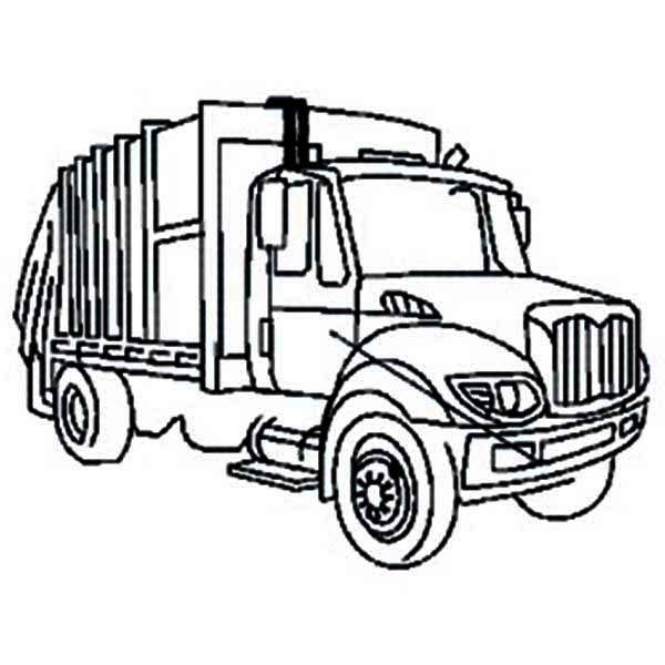 Free coloring and drawings A Garbage Truck Coloring page