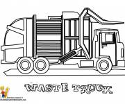 Coloring pages A Garbage Truck to be colored