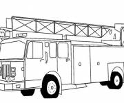 Free coloring and drawings An American Fire Truck Coloring page