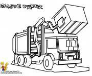 Free coloring and drawings Dump Bin Truck Coloring page