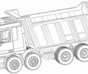 Coloring pages Dump truck to print