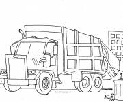 Free coloring and drawings Garbage truck Coloring page