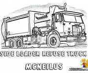Free coloring and drawings Garbage truck online Coloring page