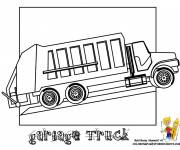 Coloring pages Garbage truck to be completed