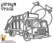 Free coloring and drawings Garbage truck to decorate Coloring page