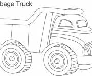 Free coloring and drawings Garbage Truck Toy Coloring page