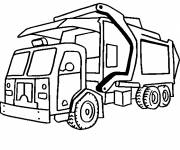 Free coloring and drawings Modern garbage truck Coloring page