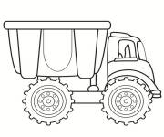 Free coloring and drawings Single truck Coloring page