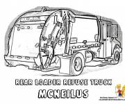 Free coloring and drawings The Garbage Truck Vehicle Coloring page