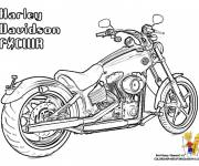 Coloring pages Color harley davidson