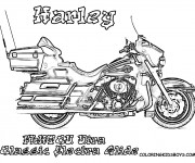 Coloring pages Harley Davidson Electra Glide