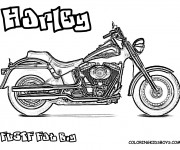 Coloring pages Harley Davidson Fat Boy