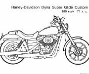 Coloring pages Harley Davidson motorcycle