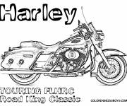 Coloring pages Harley Davidson Road King Classic