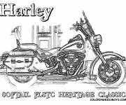 Coloring pages Harley Davidson Softail Heritage Classic