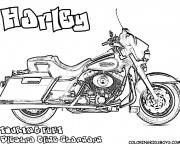 Coloring pages Harley Davidson Touring