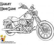 Coloring pages Harley Wide Glide