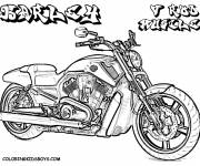 Coloring pages Powerful Harley Davidson motorcycle