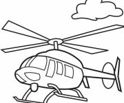 Coloring pages Air transport helicopter