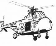 Free coloring and drawings American helicopter Coloring page