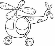 Free coloring and drawings Easy magic helicopter Coloring page