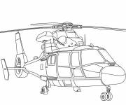 Free coloring and drawings Firefighter helicopter Coloring page