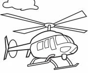 Coloring pages Helicopter in flight