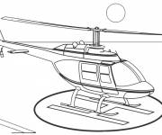 Free coloring and drawings Helicopter landing Coloring page