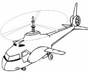 Free coloring and drawings Large Helicopter Coloring page