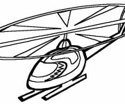 Free coloring and drawings Maternal helicopter Coloring page