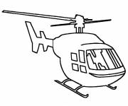 Free coloring and drawings Military helicopter Coloring page