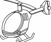 Free coloring and drawings Online helicopter Coloring page