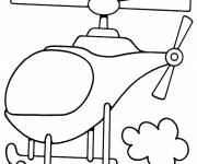 Free coloring and drawings Simplified helicopter Coloring page