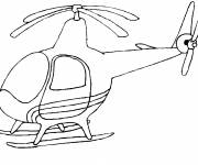 Free coloring and drawings Single helicopter Coloring page
