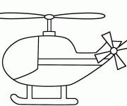 Free coloring and drawings Stylized helicopter Coloring page