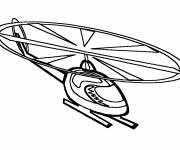Free coloring and drawings Vector helicopter Coloring page