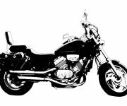 Coloring pages Color Honda motorcycle