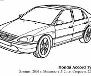 Coloring pages Honda Accord Type R car
