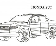 Coloring pages Honda Sut Pick Up
