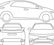 Coloring pages Honda to cut