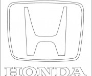 Coloring pages Honda