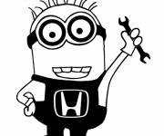 Coloring pages Minion mechanic