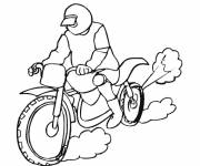 Coloring pages Motorcycle of race