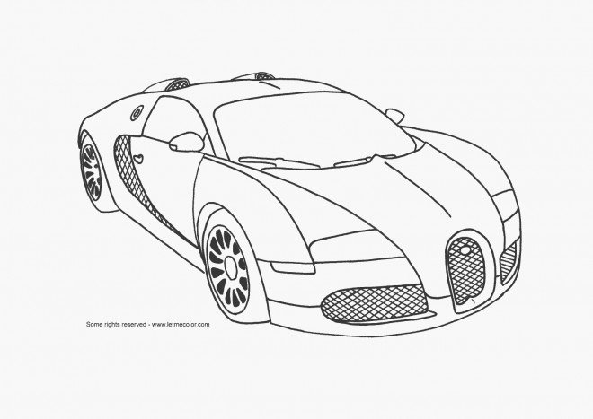 Free coloring and drawings Automobile Maybach Coloring page