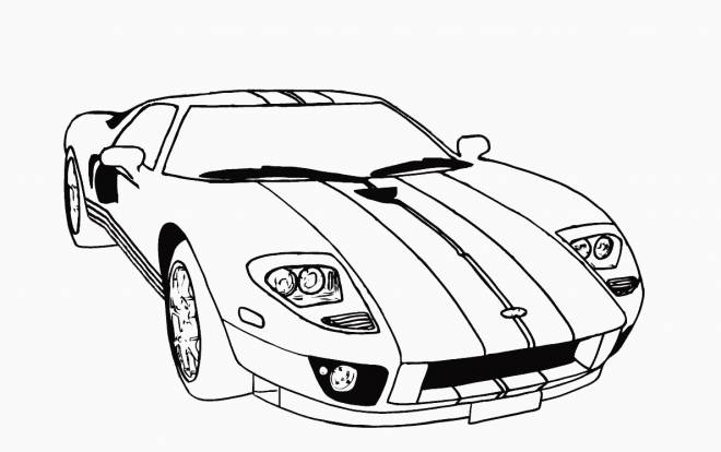 Free coloring and drawings Classic lamborghini Coloring page