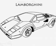 Free coloring and drawings Easy lamborghini Coloring page