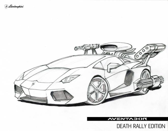 Free coloring and drawings Lamborghini Aventador Rally of Death Edition Coloring page